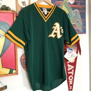 DEADSTOCK VINTAGE WITH TAGS OAKLAND A's JERSEY XL
